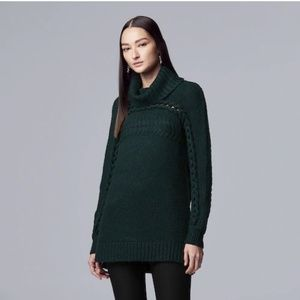 Simply Vera Wang Braided Cable-Knit Cowlneck